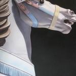 Lea, White Horse in the Dark, 2009, acrylic