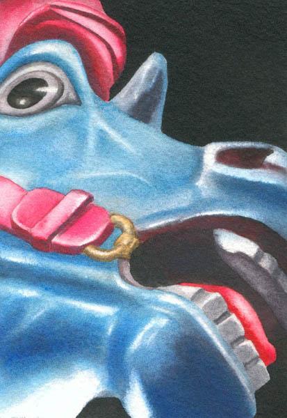 Lea, Pretty Blue Fear, 2011, acrylic